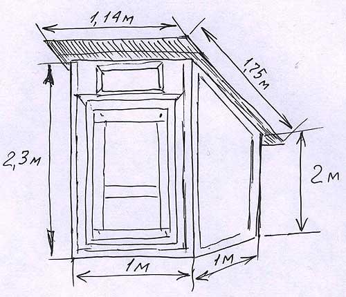 """Как построить садовый туалет """"скворечник"""" ."""