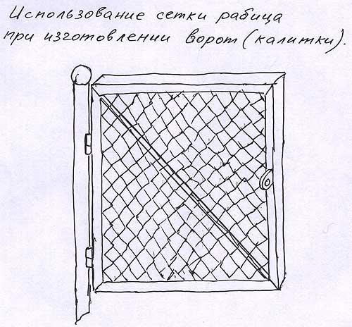 Сетка рабица Использование сетки рабица при изготовлении ворот или калитки