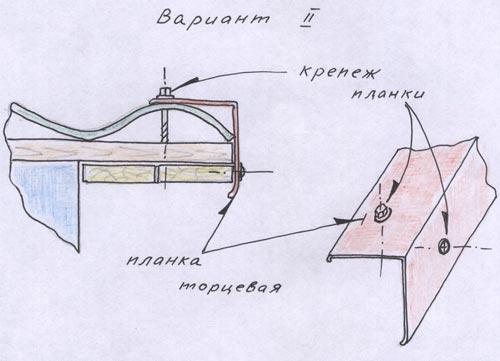 Второй вариант крепления ветровой доски